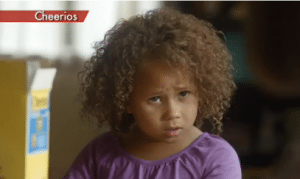 My thoughts exactly, little girl. (Screenshot from the commercial in question)