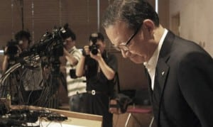 President and CEO of Asiana Airlines Yoon Young-doo at a press conference following the crash. Image: WSJ.