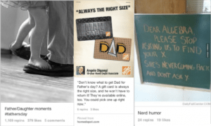 Screen grabs from the example-setting Pinterest boards of brands discussed in this article.