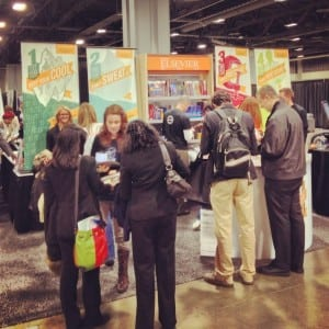 Elsevier Health Sciences wanted to reengage its medical student stakeholders, so the company planned its rebranding to coincide with the American Medical Student Association annual March convention. The image above reflects the interest and engagement that Elsevier's booth generated during the convention. The company said it was able to leverage that excitement and use it as momentum for its Facebook campaign.