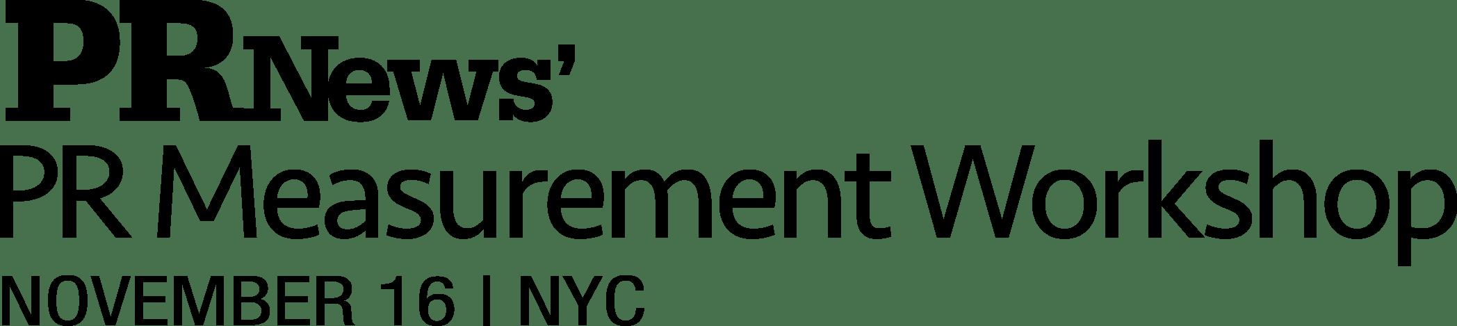 PR Measurement Workshop Logo