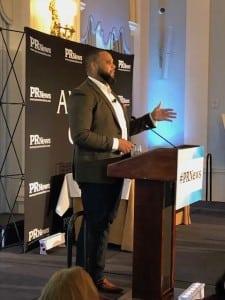 Jason Dailey, U.S. agency development lead at Facebook, was the keynote speaker at the Digital PR Awards 2017.