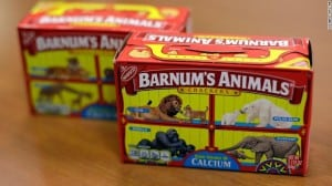The old Barnum's Animals Crackers box