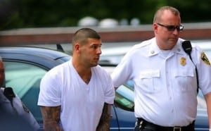 Former Patriots Player Aaron Hernandez At Attleboro District Court