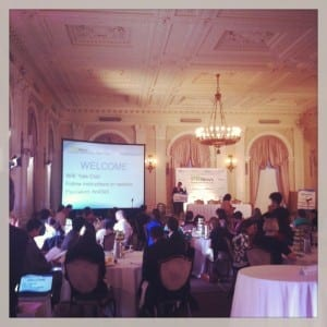 Content Marketing Boot Camp in the Yale Club ballroom