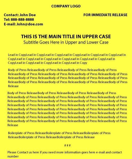 Press release format pr news press release format thecheapjerseys Images