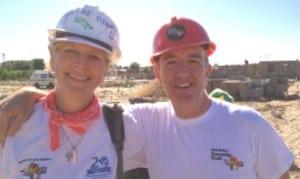 Anne Buchanon and Niall Mellon, Niall Mellon Township Trust founder