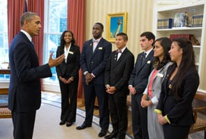 President Barack Obama meets with Boys & Girls Clubs of America 2013 Youth of the Year finalists in the Oval Office, Sept. 18, 2013. (Official White House Photo by Pete Souza)