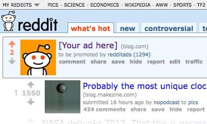 reddit sponsored ad