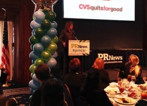 Eileen Howard Boone, SVP of CSR and Philanthropy at CVS Caremark, delivers her keynote address.