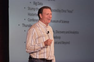 Paul Doscher, LucidWorks' CEO, welcoming attendees before the keynote at Lucene/Solr Revolution, where LucidWorks hosted the largest gathering of open source search enthusiasts in the world.