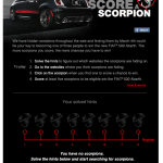 """Each user who joined the """"Score a Scorpion"""" contest could keep track of how many scorpions he or she had found across the Internet via a personal user profile landing page, such as the one above."""