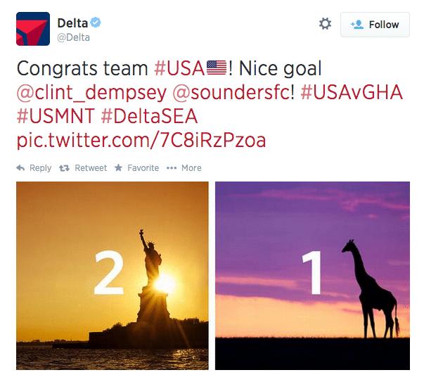 delta ghana giraffe tweet