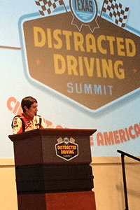 Racecar driver (and advocate against distracted driving) Zach Veach talks about the importance of driving focused at TxDOT's Distracted Driving Summit, which was held last June in Austin.