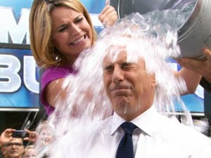 SHOWER THE PEOPLE: Matt Lauer of NBC's Today Show takes the Ice Bucket Challenge, which in the last few weeks has become a nationwide phenomenon. The challenge holds a few PR lessons for brands, associations and nonprofit organizations alike.