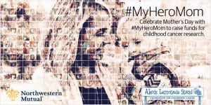 Cone Communications created a Facebook tab for Northwestern Mutual's #MyHeroMom campaign. The tab included a digital mosaic and animated gallery that featured photos honoring moms for their heroic acts of love to raise funds for childhood cancer research.