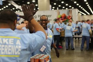 HIGH FIVE: Each year, Kroger donates 50 million pounds of fresh food to help feed the hungry via its Perishable Donations program.