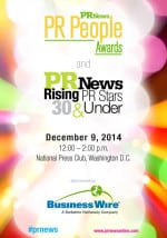 PR People Awards Luncheon Program Guide 2014