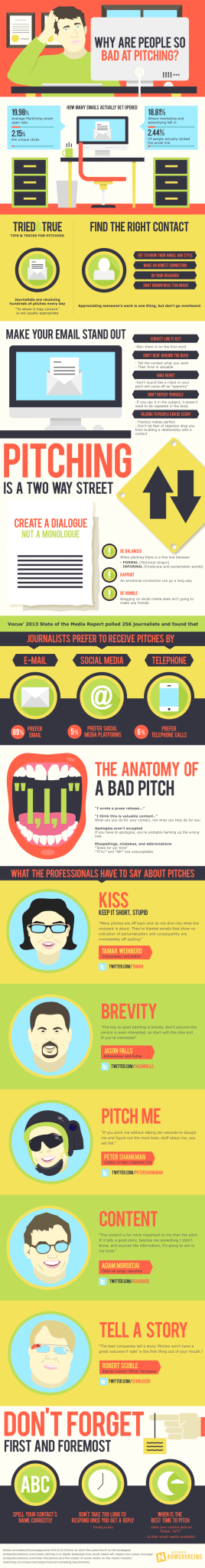 media pitching infographic