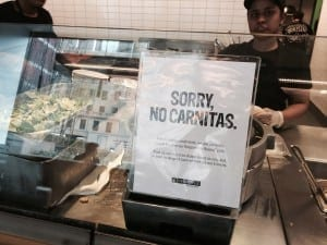 Chipotle goes pork-free at some restaurants