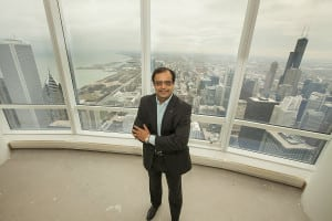 TOP STORY: This photo of Sanjay Shah, founder and CEO of Vistex Inc., was distributed widely throughout the media with the announcement of Shah's purchase of the Trump International Hotel & Tower penthouse in Chicago.