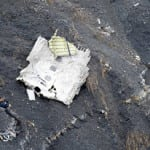 A piece of wreckage from Tuesday's Germanwings crash.