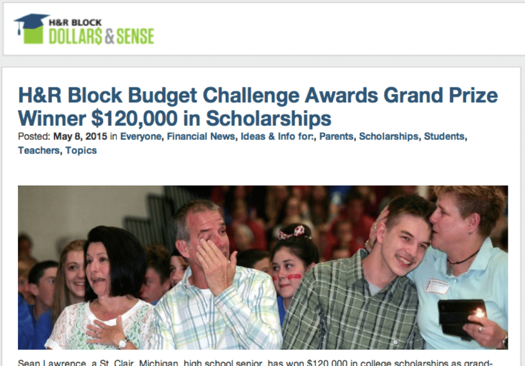 "The H&R Block ""Dollars & Sense"" blog serves as the central hub for the company's digital marketing strategy."
