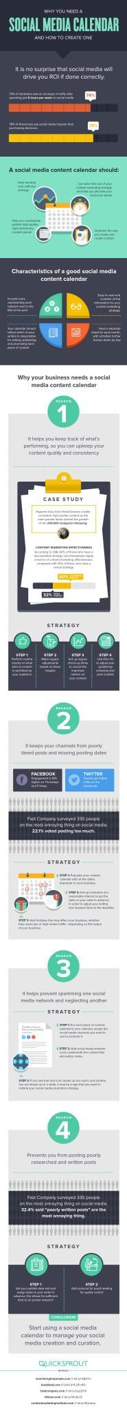 Social Media Calendar Infographic