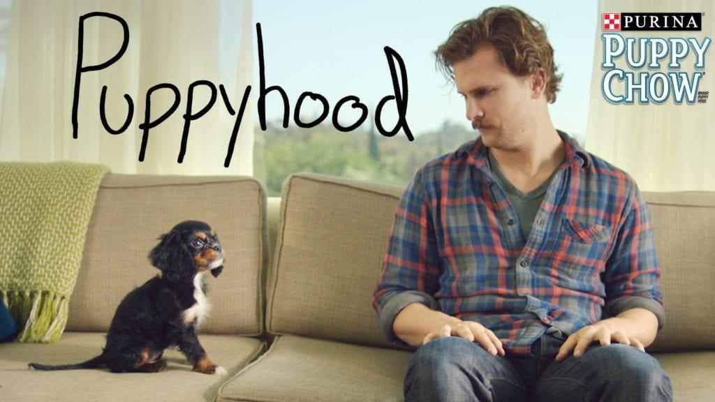 A screenshot from the original Nestlé Purina Puppyhood video