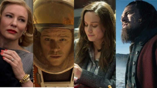 Cate Blanchett, Matt Damon, Brie Larson and Leonardo DiCaprio were nominated for Academy Awards in acting categories.