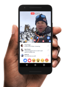 Facebook's live video reactions offer more opportunities for interaction.