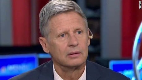 what is aleppo, gary johnson,
