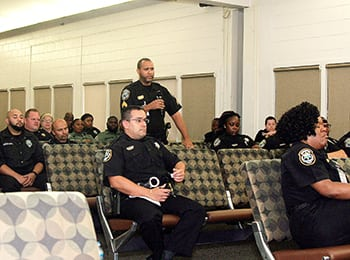 Two-Way Street: Held at least thrice yearly, town hall meetings between corrections officers and commanders address issues and promote consensus building and information sharing.
