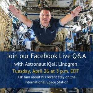 nasa, facebook live, astronaut, international space station