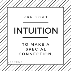 use that intuition to make a special connection.