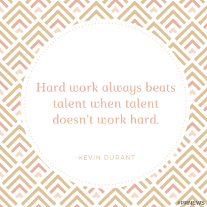 hard work always beats talent when talent doesnt work hard.