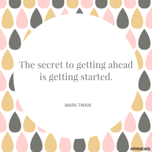 the secret to getting ahead is getting started, mark twain