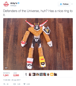 Arby's Twitter Transformers