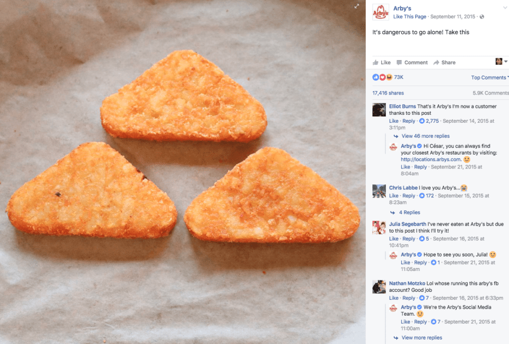 Arby's Twitter Legend of Zelda
