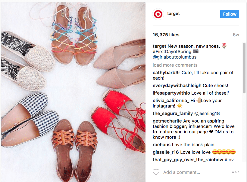 Target instagram user-generated content