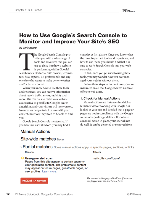 Google for Communicators Guidebook Sample Article