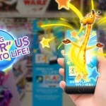 geoffrey giraffe, toys 'r' us, entrance, augmented reality