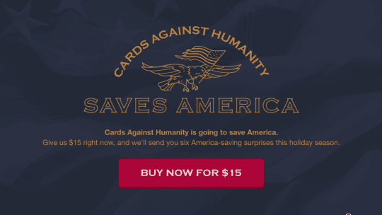 Cards Against Humanity Divides And Conquers With America Saving Black Friday Stunt
