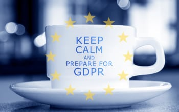 "coffee mug reading ""keep calm and prepare for GDPR"""