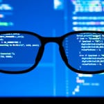 glasses, reading code, machine learning