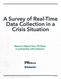 A Survey of Real-Time Data Collection in a Crisis Situation