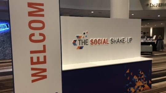 signage for The Social Shake-Up