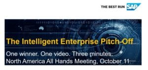SAP Intelligent Enterprise Pitch-off