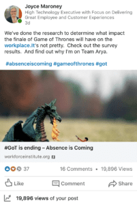 Kronos Incorporated #AbsenceIsComing: Game of Thrones Work Survey