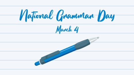 National Grammar Day illustration